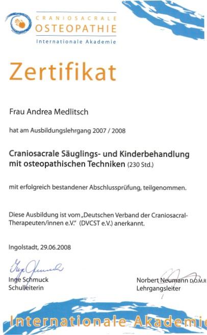 Craniosacrale Säuglings- und Kinderbehandlung