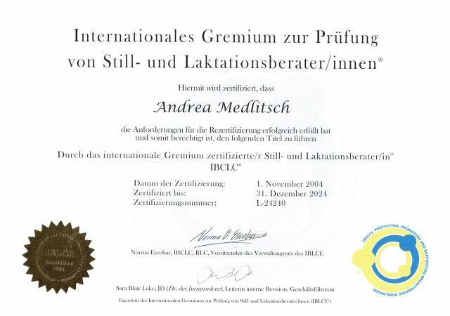 IBCLC Zertifizierung